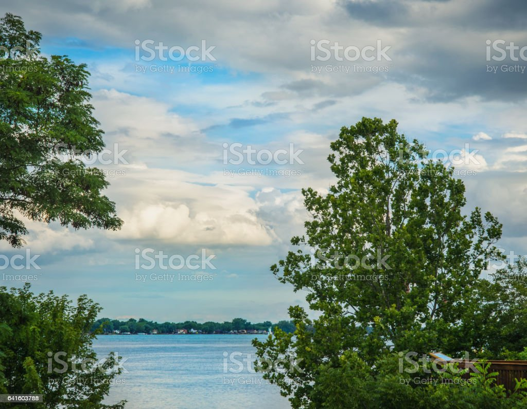 Summer Cloud Scape stock photo