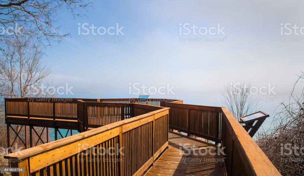 Summer Cloud Scape Scenic Overlook stock photo