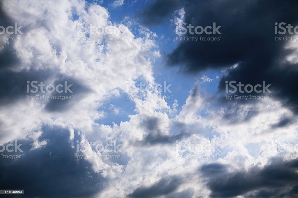 summer clouds royalty-free stock photo