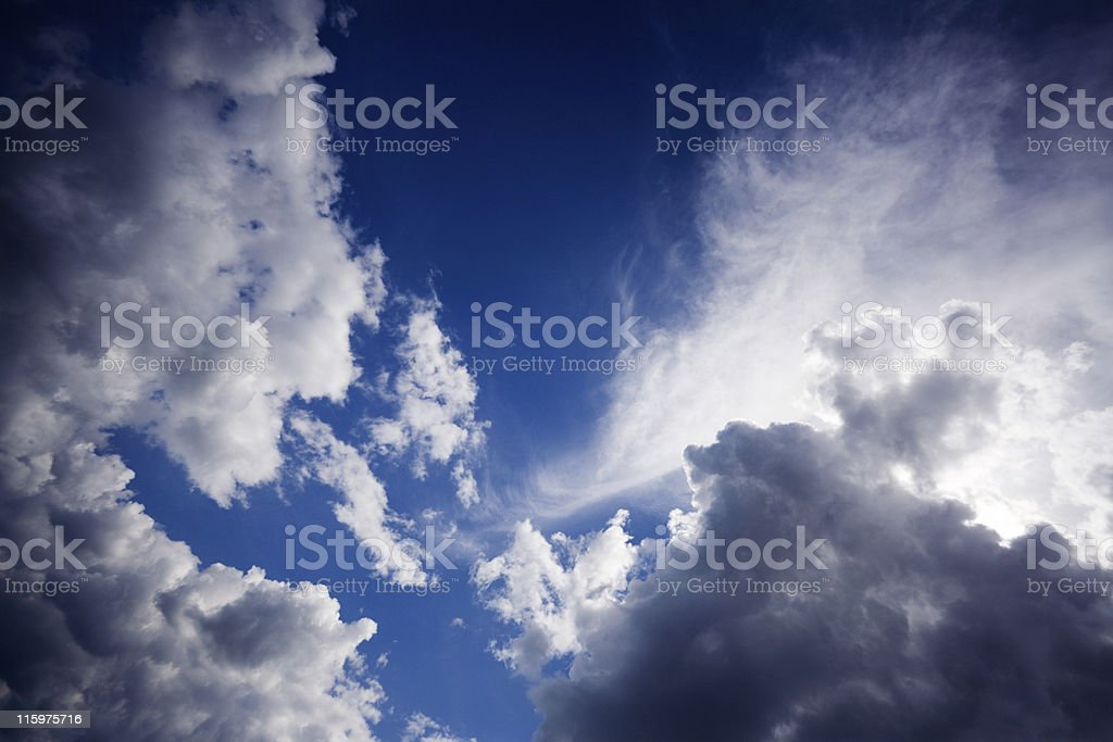 Summer cloudscape royalty-free stock photo
