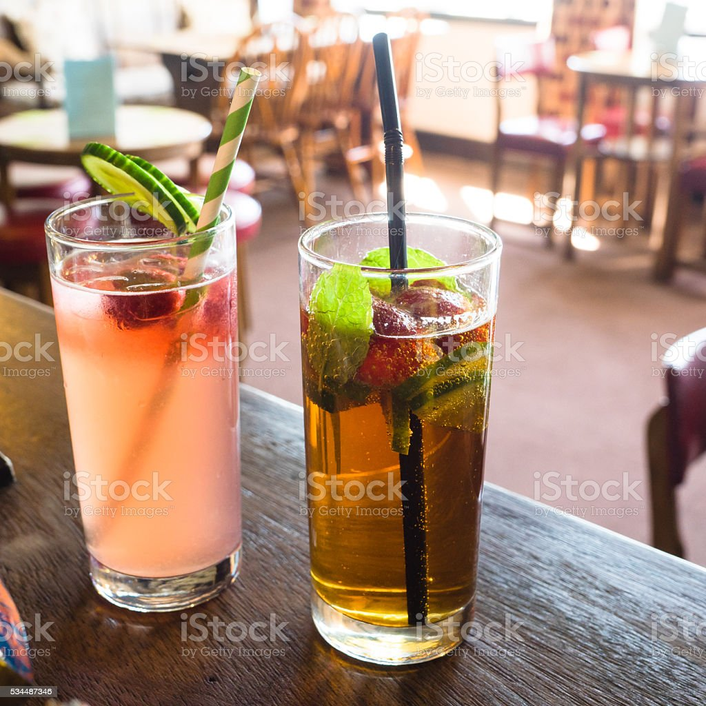 Summer Cocktails stock photo