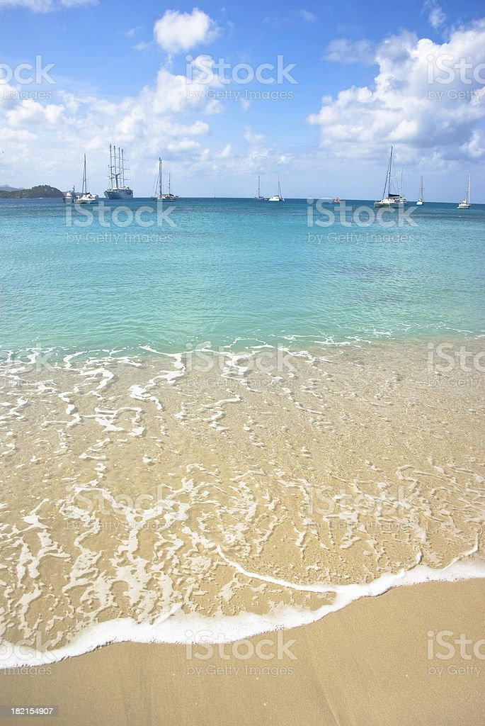 summer comes in the waves royalty-free stock photo