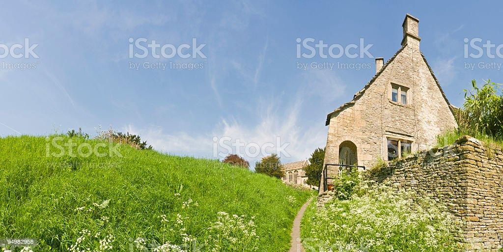 Summer cottage garden path royalty-free stock photo