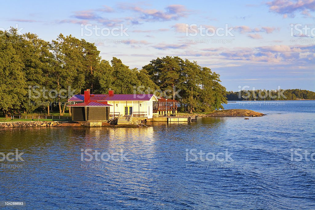 Summer cottage in Finland royalty-free stock photo