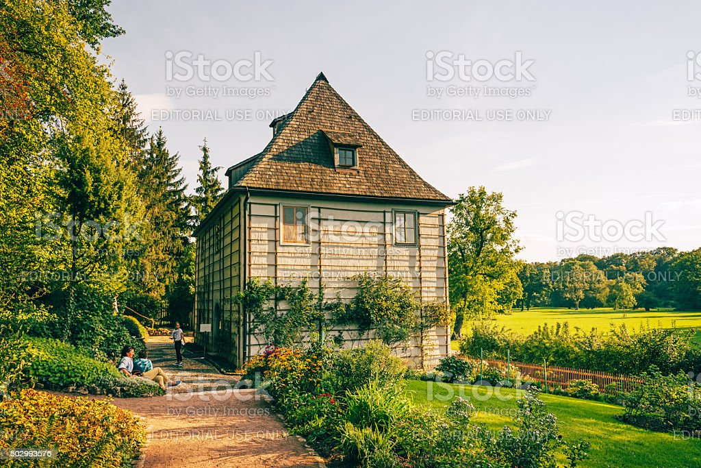 Summer cottage in Weimar, Germany stock photo