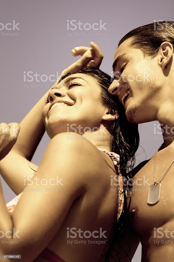 Summer couple royalty-free stock photo