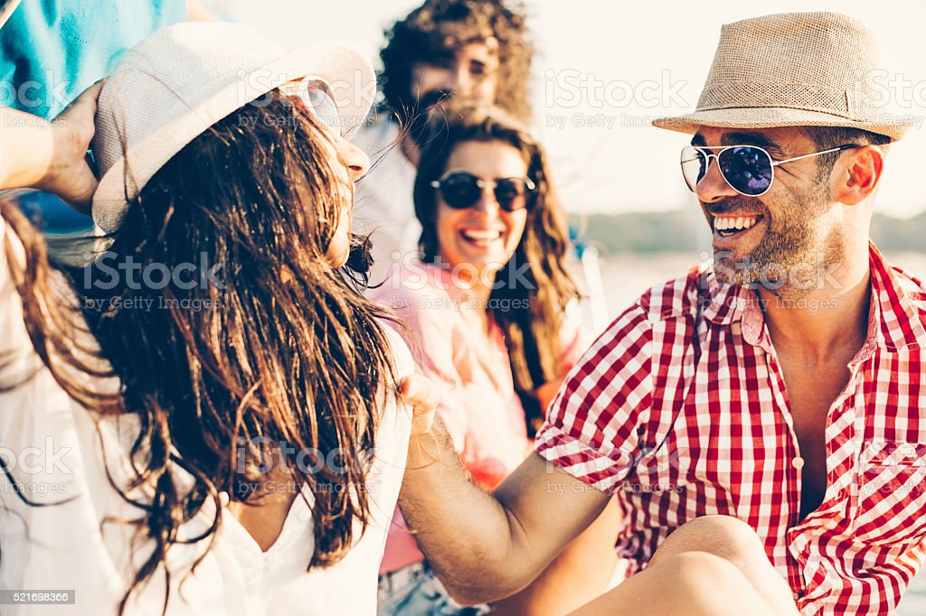 Summer couples stock photo