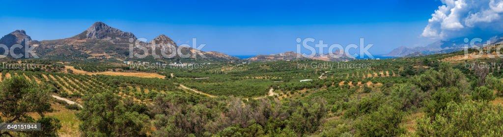 Summer Crete Island panorama stock photo