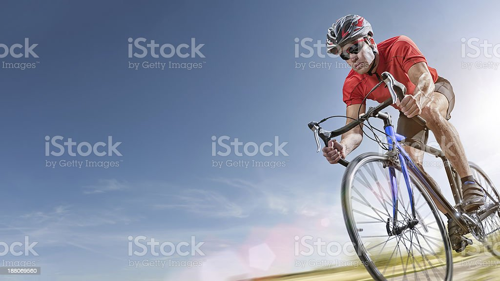 Summer Cycling stock photo