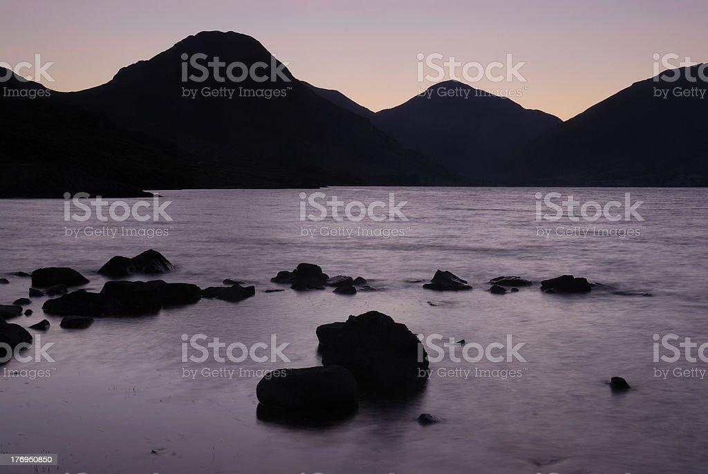 Summer dawn, Wastwater, English Lake District stock photo