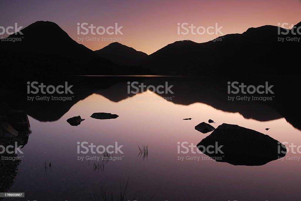 Summer dawn, Wastwater, English Lake District royalty-free stock photo