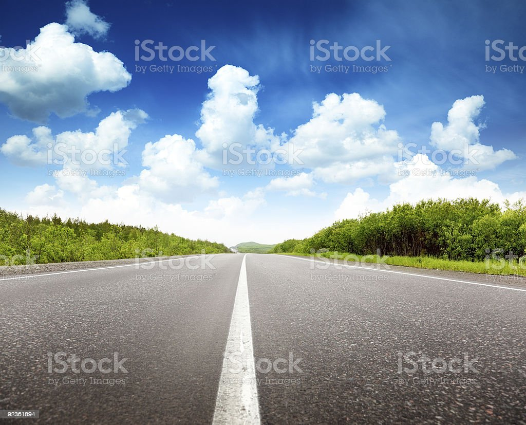 summer day and road royalty-free stock photo