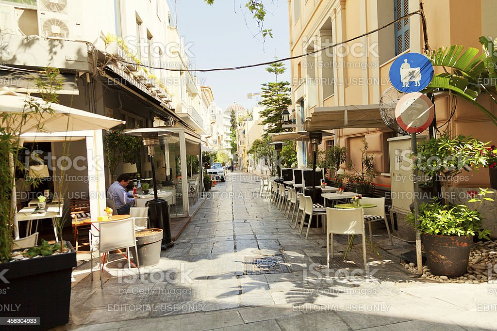 Summer day in Athens royalty-free stock photo