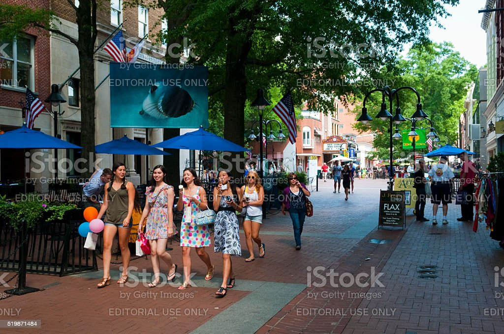Summer day in Charlottesville, Virginia stock photo