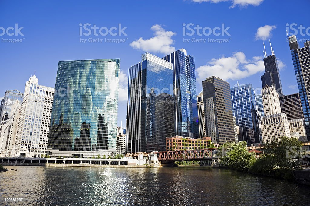 Summer day in Chicago stock photo