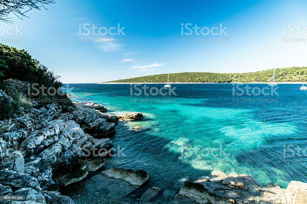 summer day in Croatia stock photo