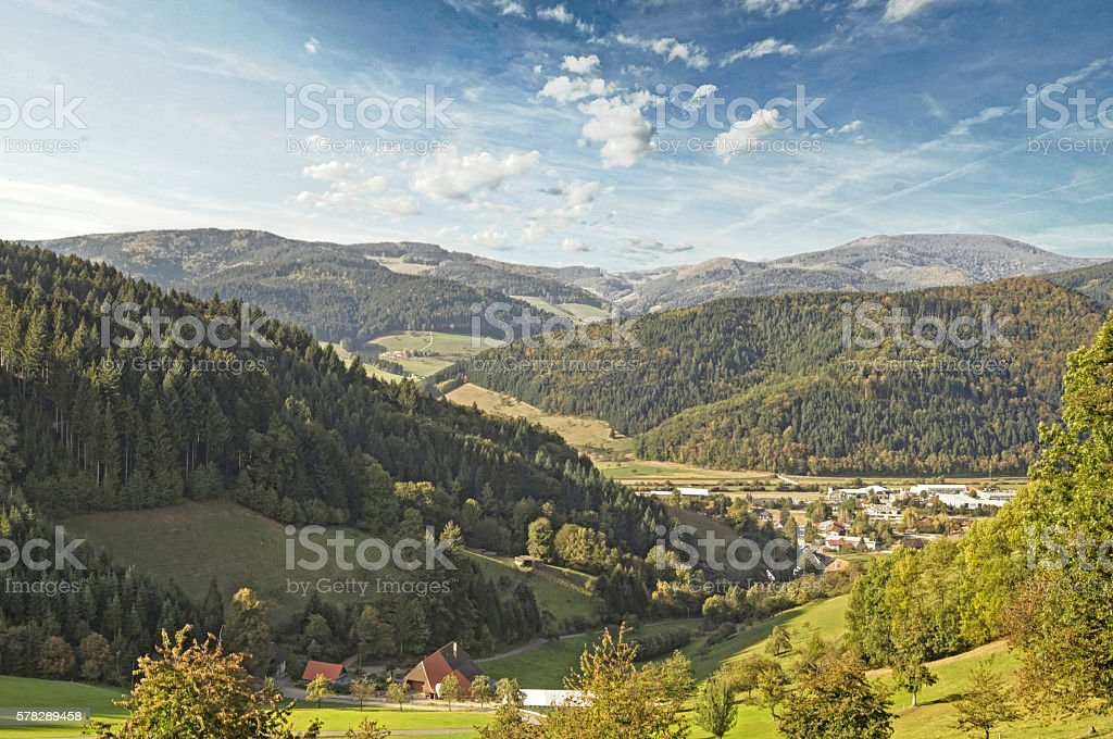 Summer day in the Kinzig Valley in the Black Forest stock photo