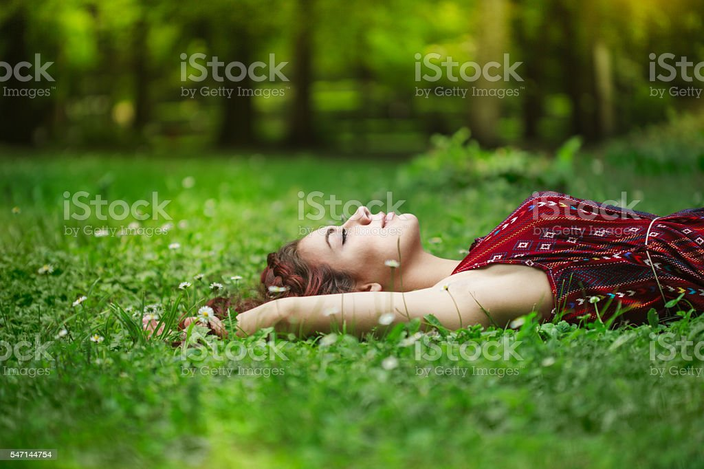 summer day relaxing stock photo