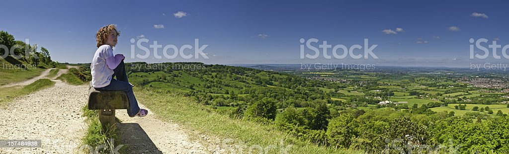 Summer daydreaming view to blue royalty-free stock photo