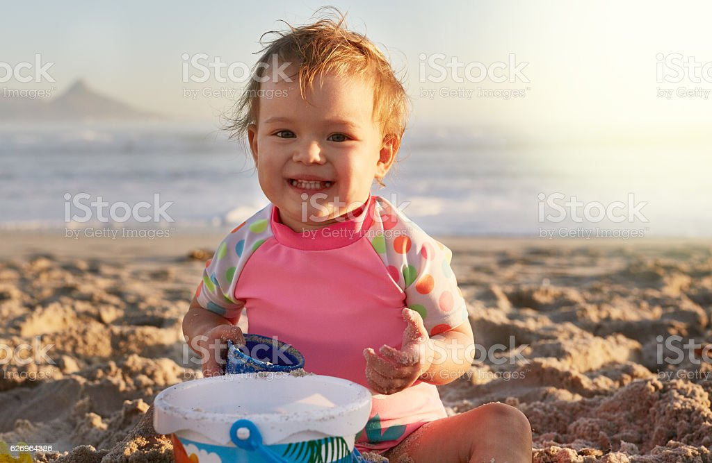 Summer days are best spent at the beach stock photo