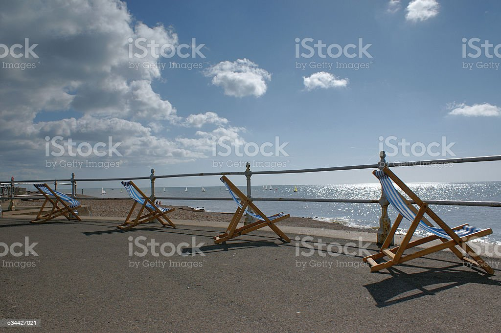 Summer Deck Chairs stock photo