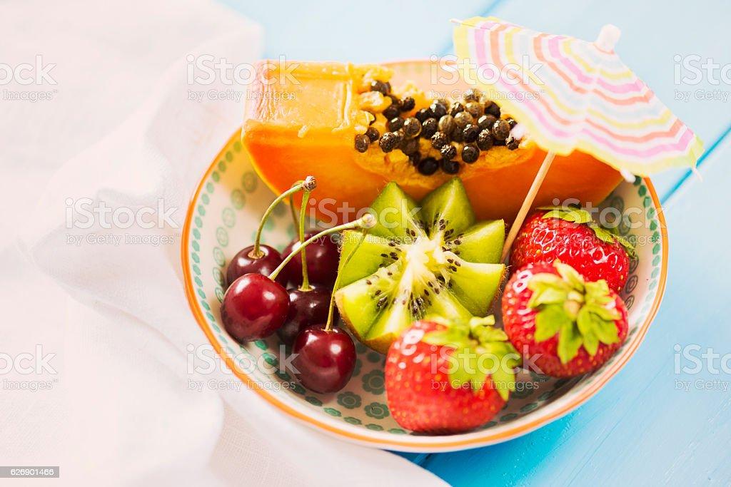 Summer Detox Fruit Bowl stock photo