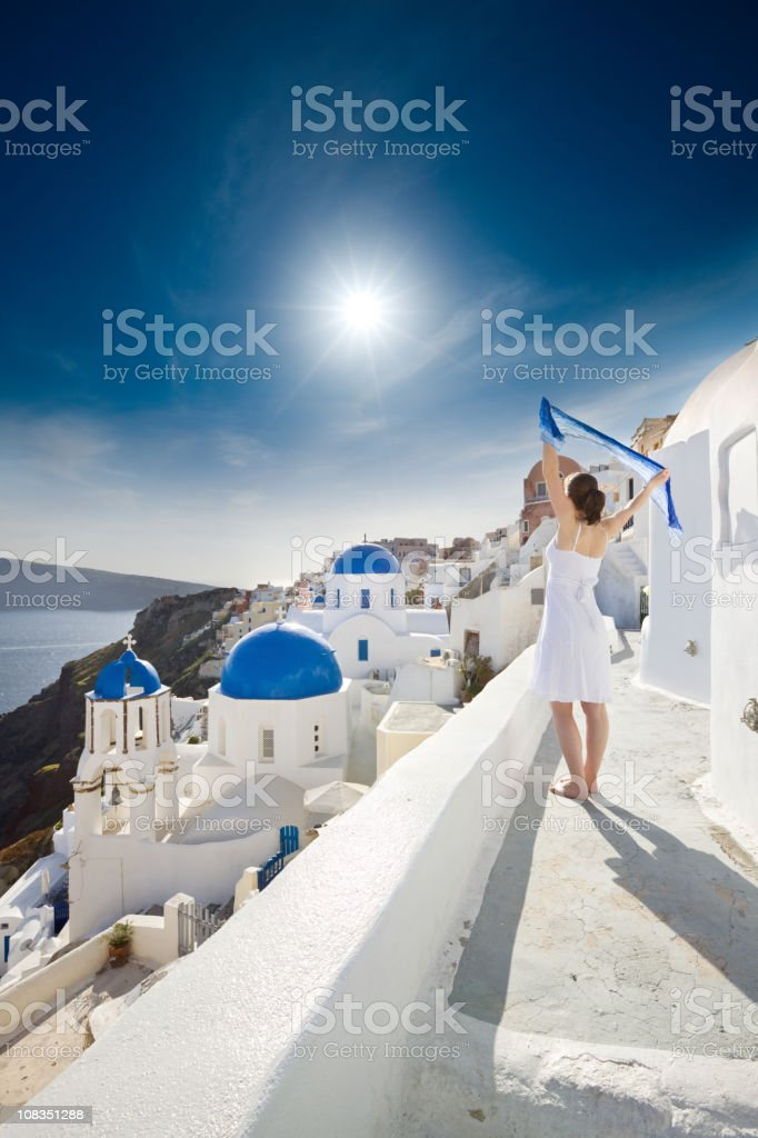 Summer Dreams, Santorini, Greece royalty-free stock photo