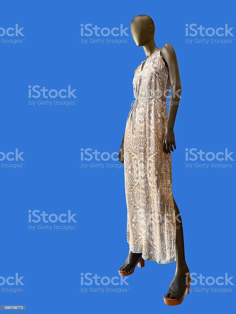 Summer dress on female mannequin. stock photo