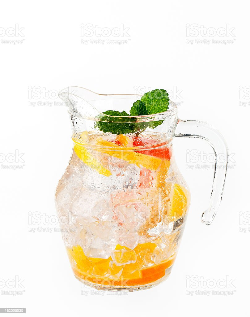 summer drink in a jug stock photo