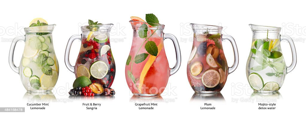Summer drinks collection stock photo