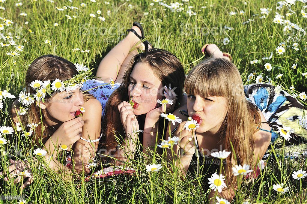 summer enjoying royalty-free stock photo