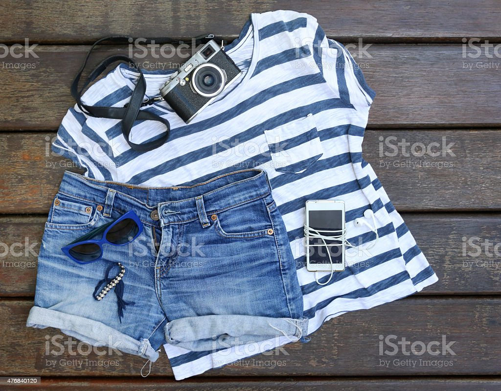 Summer essentials stock photo
