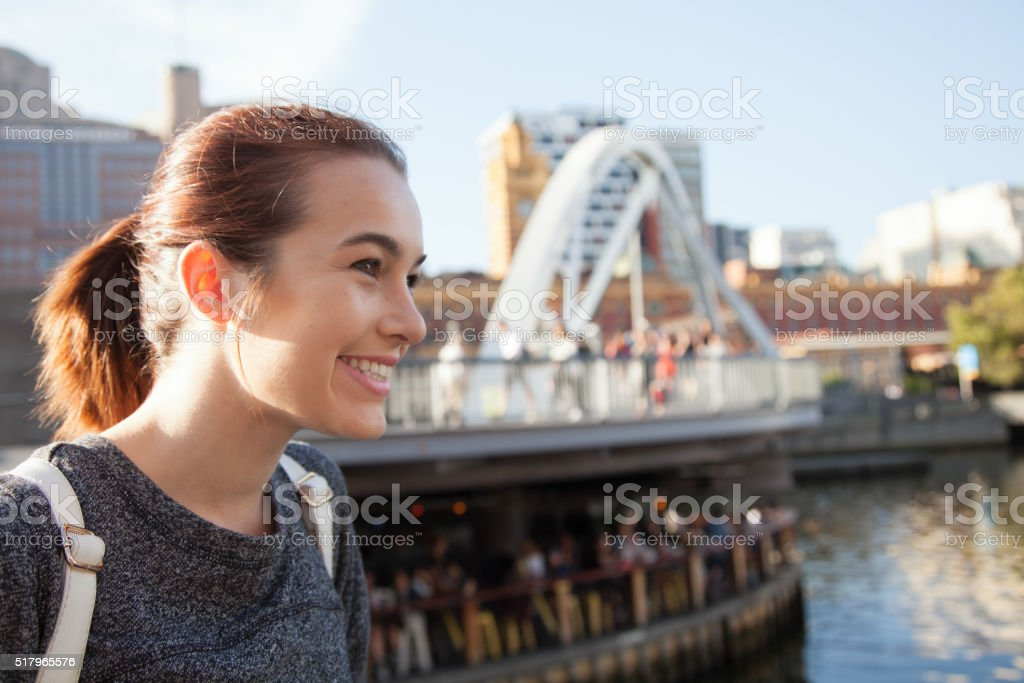 Summer Evening in Melbourne stock photo
