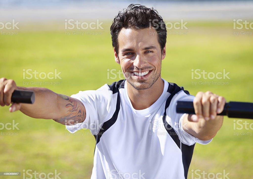Summer exercise stock photo