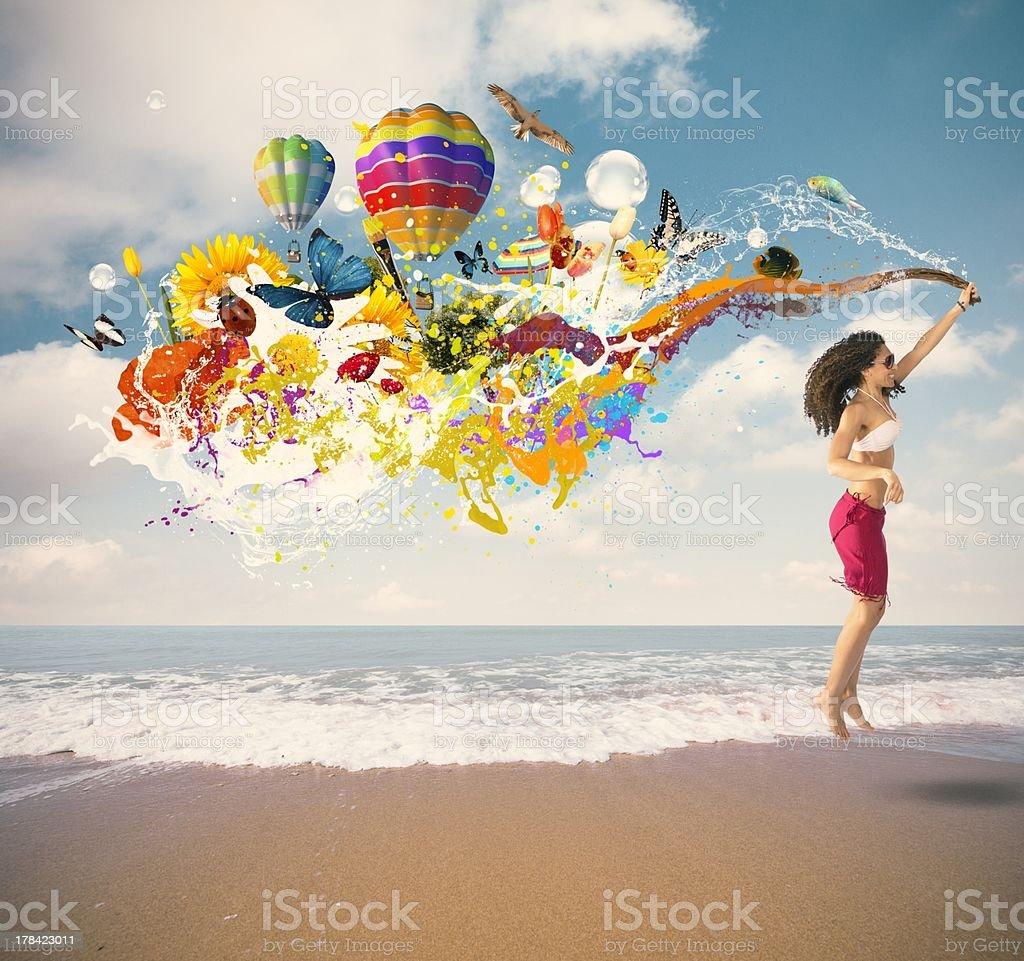 Summer explosion stock photo