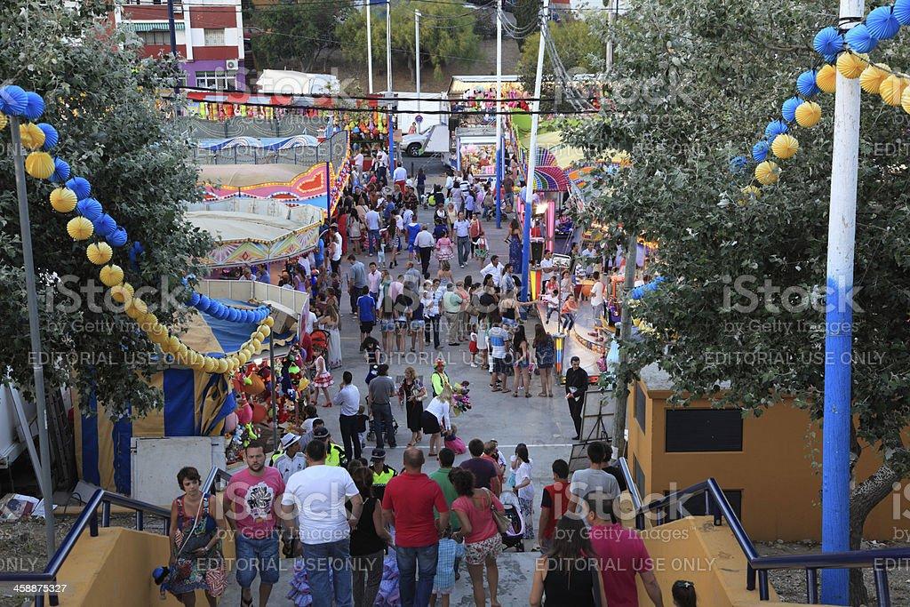 Summer fair in Algeciras, Spain royalty-free stock photo