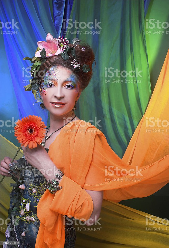 Summer fairy. stock photo