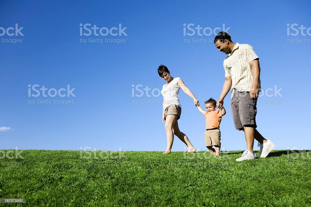 Summer Family Stroll stock photo