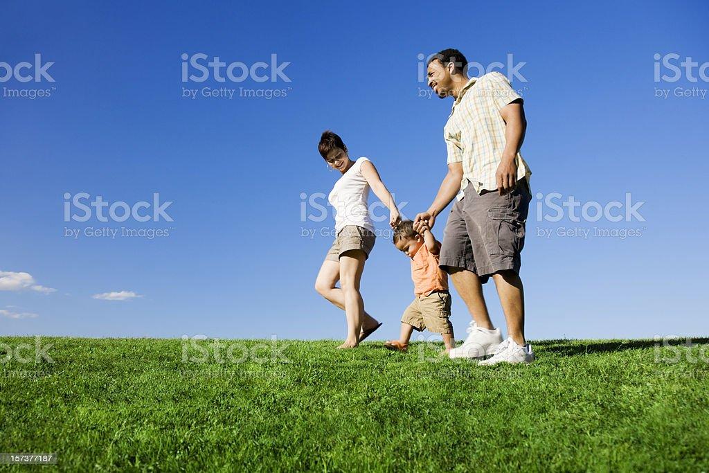 Summer Family Stroll royalty-free stock photo