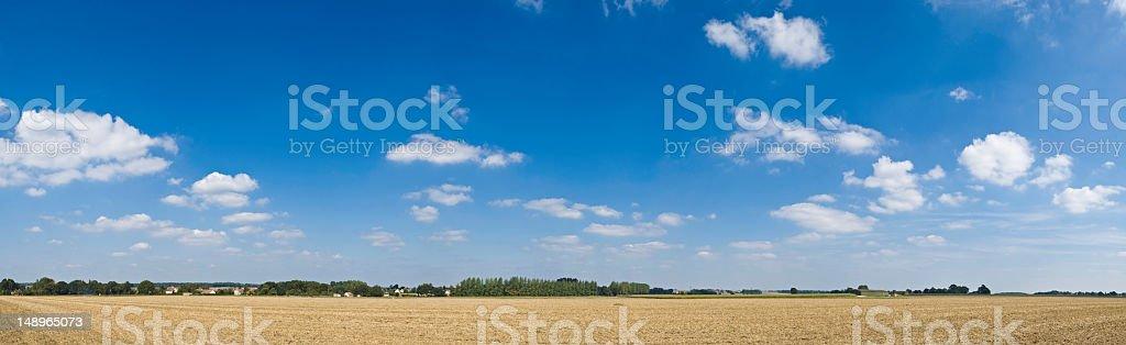Summer farm big sky horizon stock photo