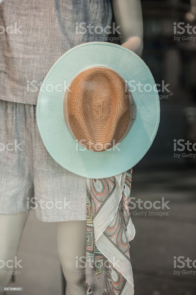 Summer fashion in Paris stock photo
