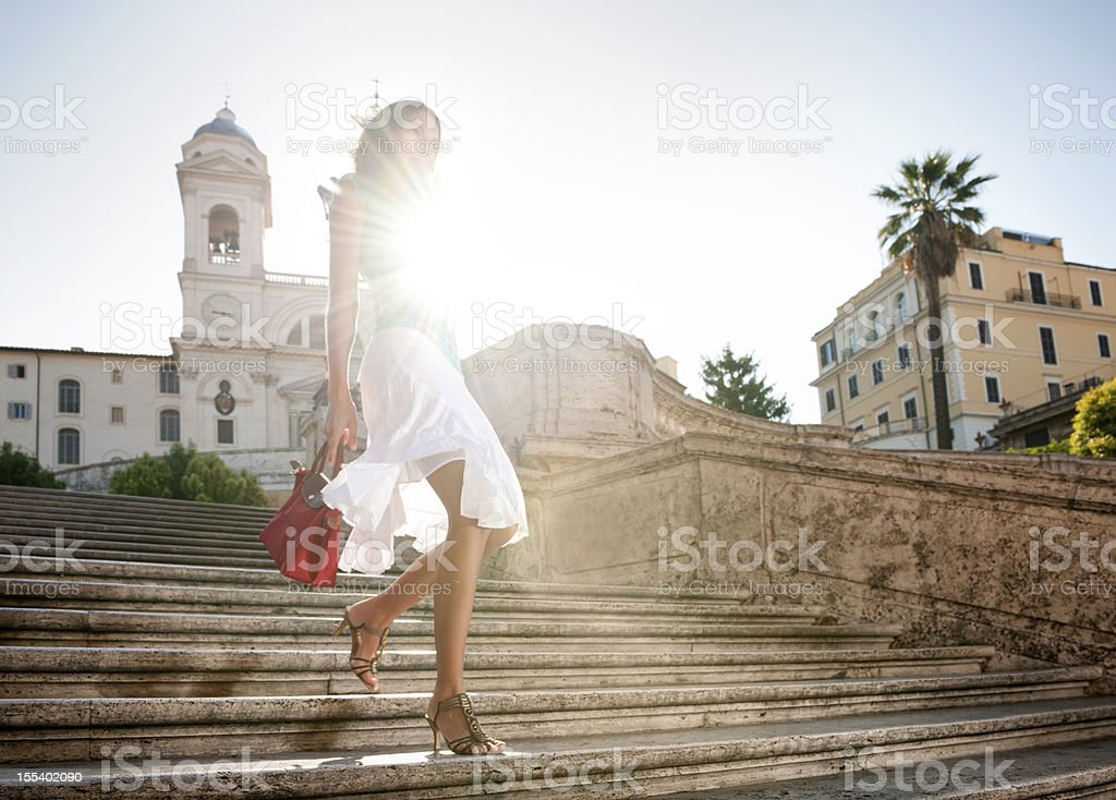 Summer Fashion, Spanish Steps stock photo
