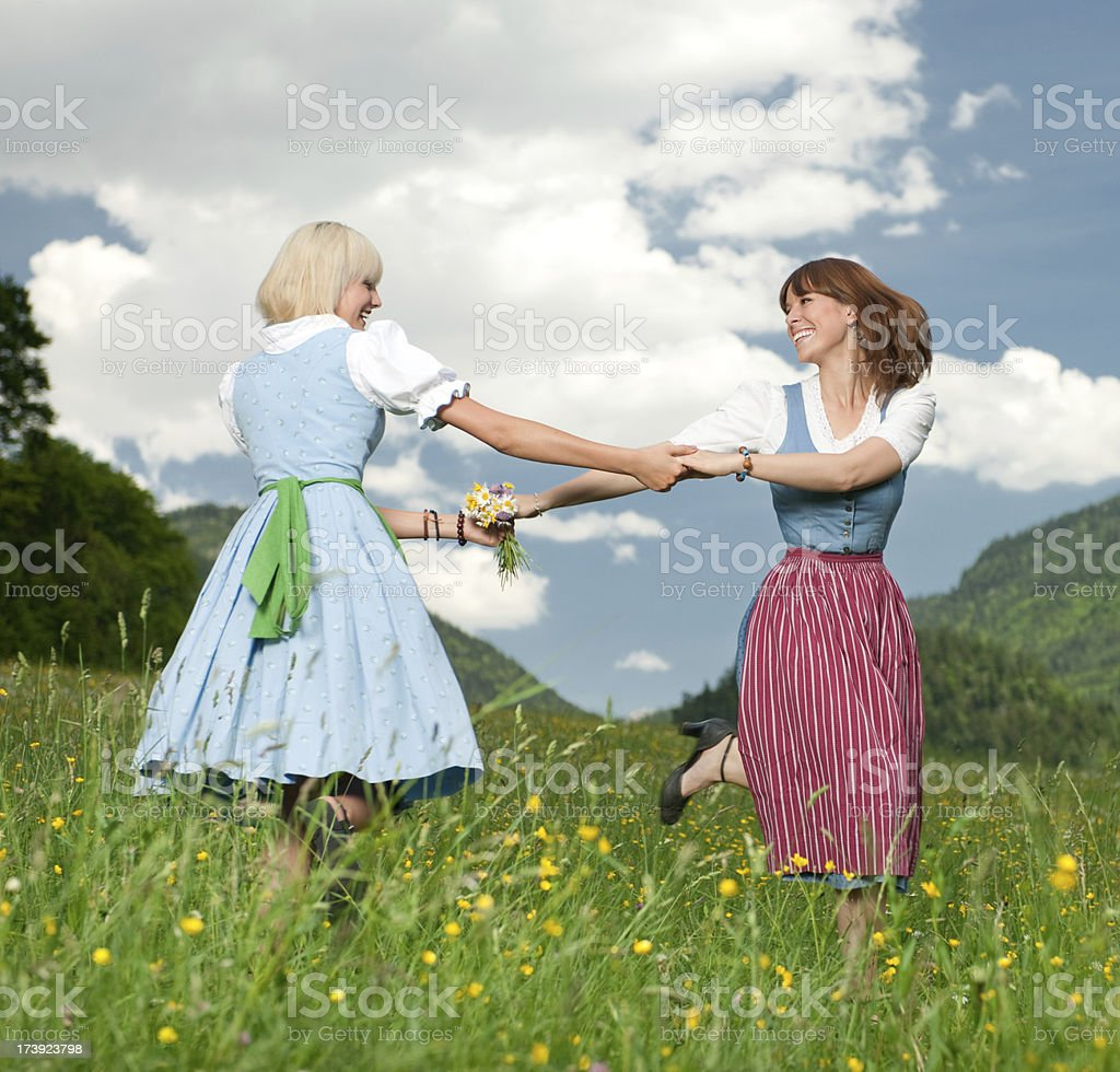 Summer Feelings, Women in Dirndl royalty-free stock photo