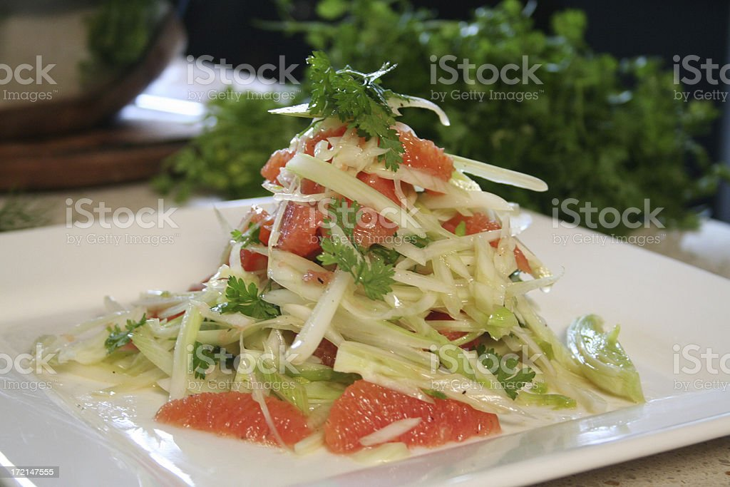 Summer Fennel Salad Italian stock photo
