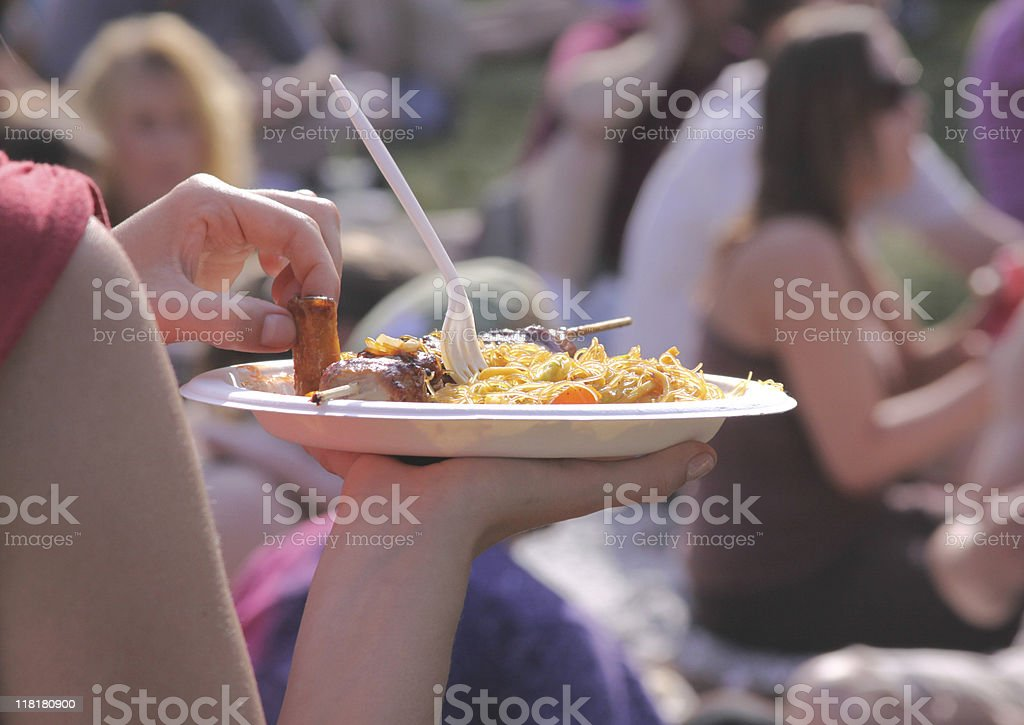 summer festival food stock photo
