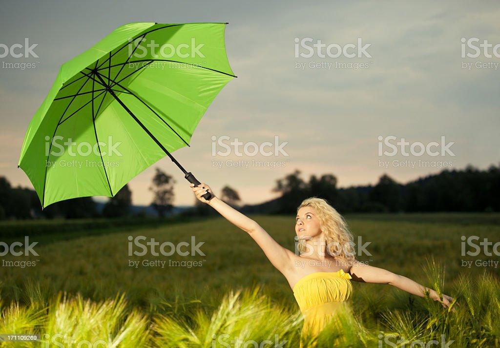 Summer field girl royalty-free stock photo