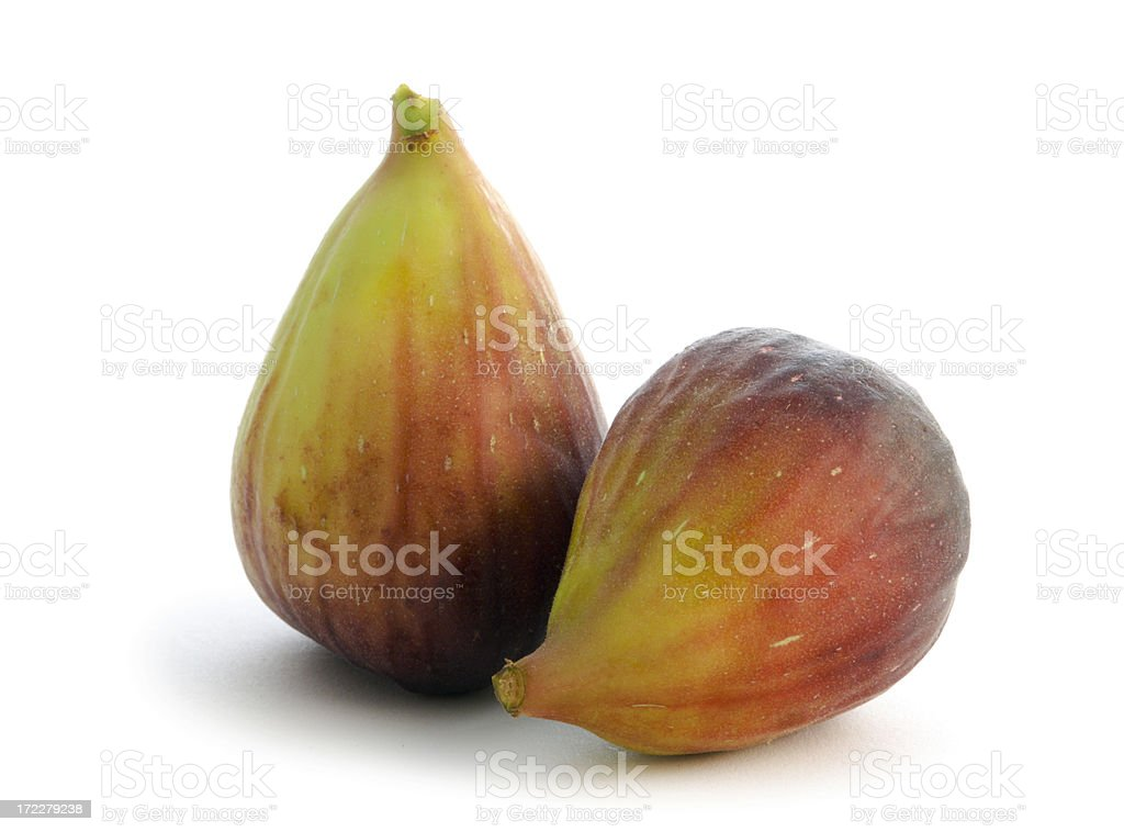 Summer Figs on White Background royalty-free stock photo