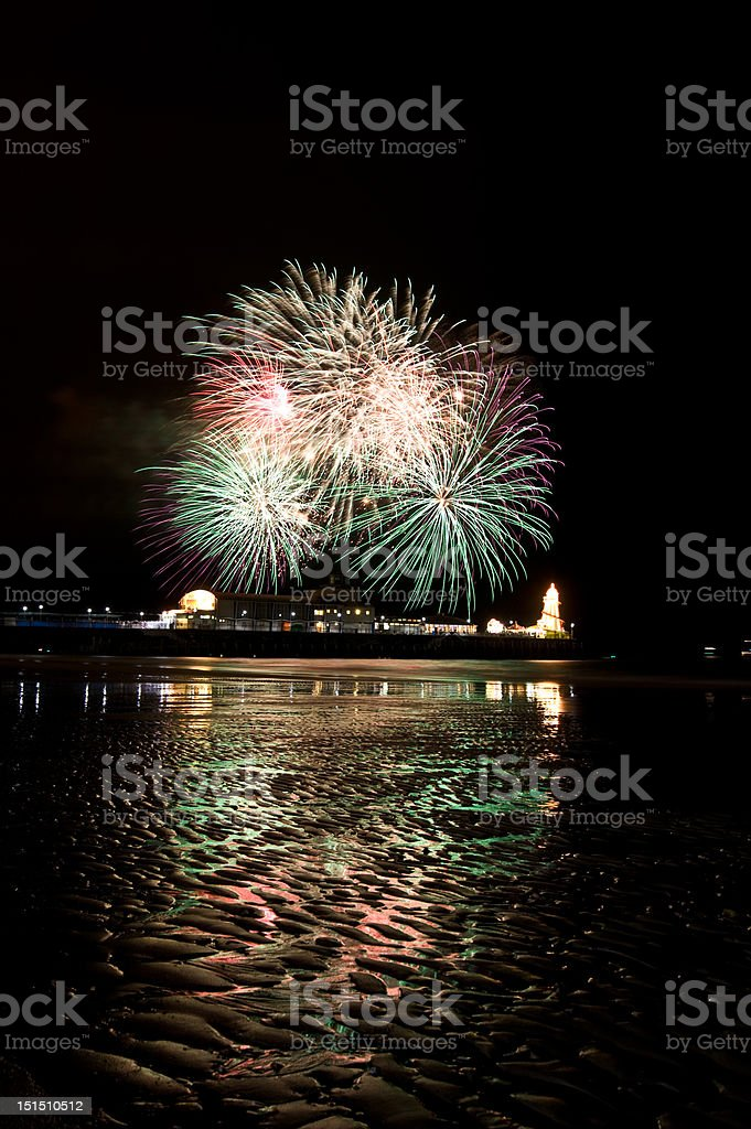 summer Firework in bournemouth royalty-free stock photo