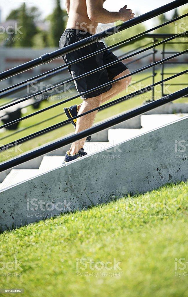 Summer fittness training stock photo