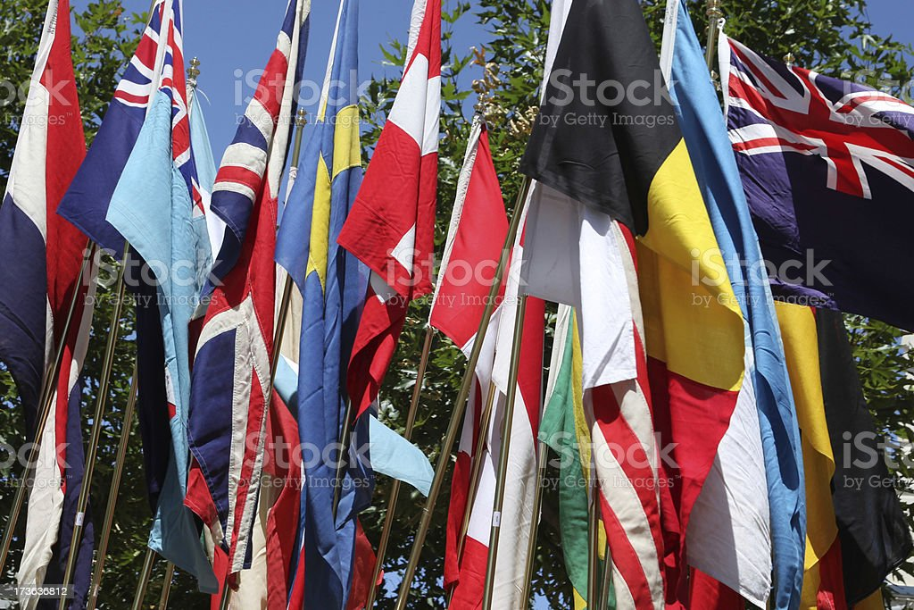Summer Flags royalty-free stock photo